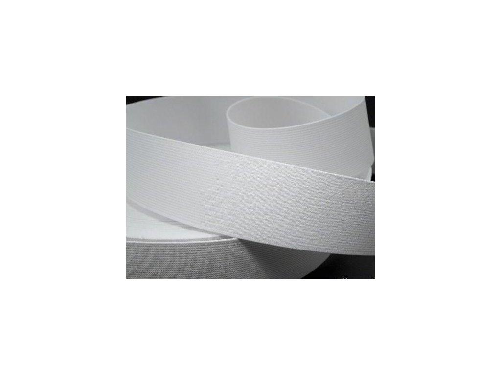 Pruženka oděvní šíře 70mm bílá 367070