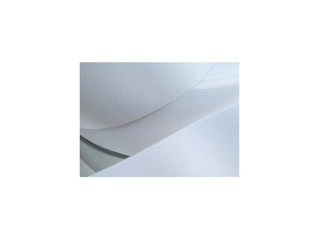 Pruženka oděvní šíře 80mm bílá 367080