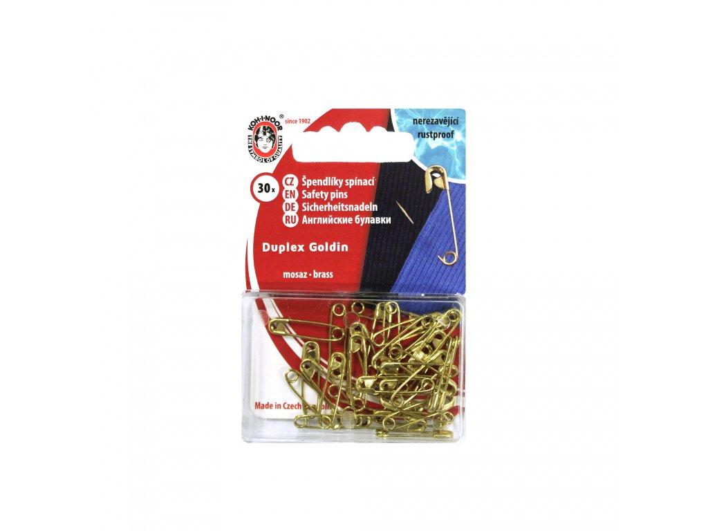 Zavírací špendlík GOLDIN vel. 3/0 (19x0,65mm)