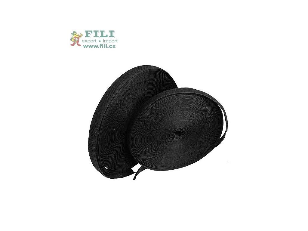 Suchý zip komplet š. 1,6 cm barva černá