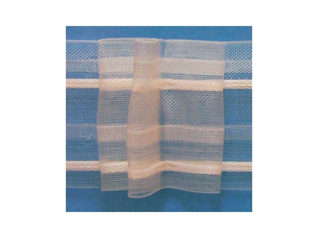Stuha záclonová 86050 transparentní, s řasením 1:2 bal. 50m