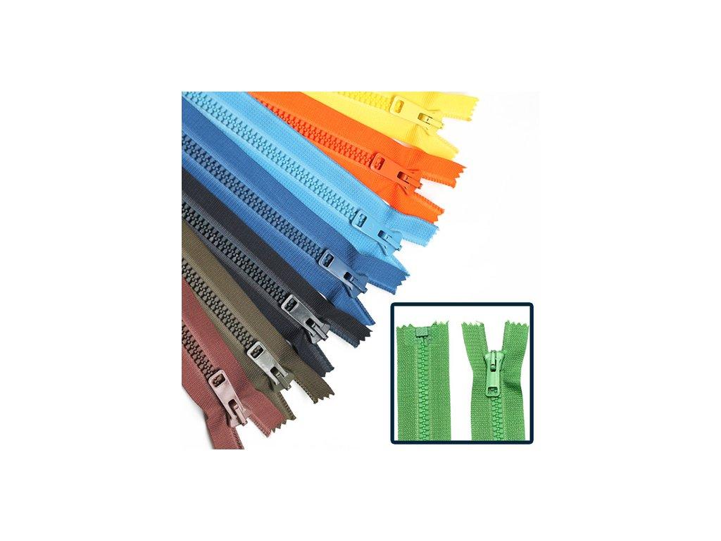 Kostěný zip PH6 6mm dělitelný délka 40cm
