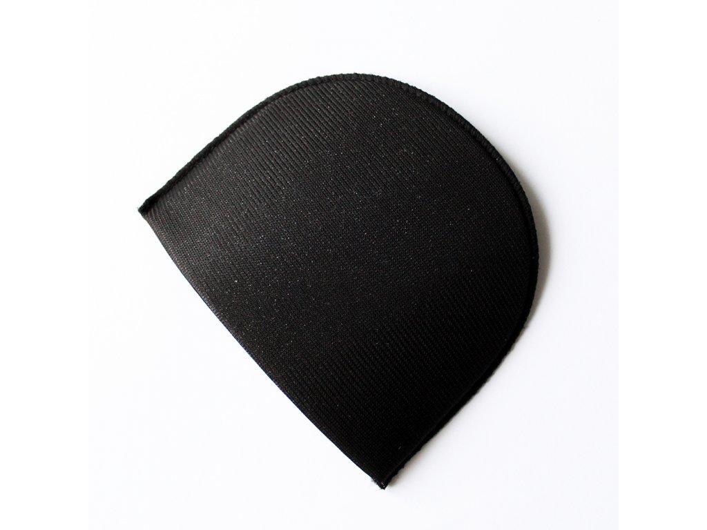 Vycpávka potažená síla 15mm černá 10032