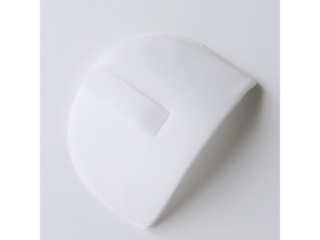 Vycpávka potažená síla 15mm bílá se suchým zipem 10171
