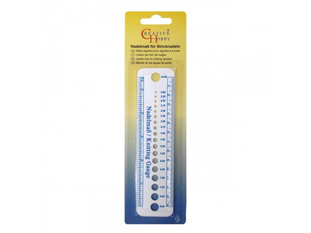 Pravítko na měření síly jehlic 827-14