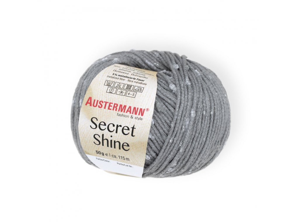 Secret Shine [82% bavlna, 13% polyamid, 5% metalické vlákno] Ručně pletací příze