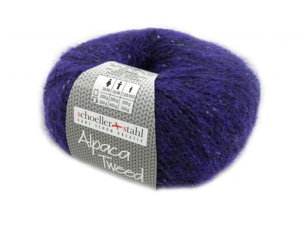 Alpaca Tweed [26% alpaka, 21% vlna, 18% polyakryl, 18% polyester, 11% hedvábí, 6% polyamid]