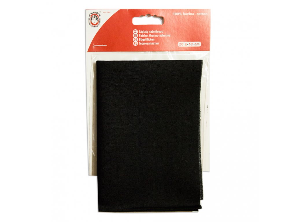 Nažehlovací záplata Koh-I-Noor - 100% bavlna, černá