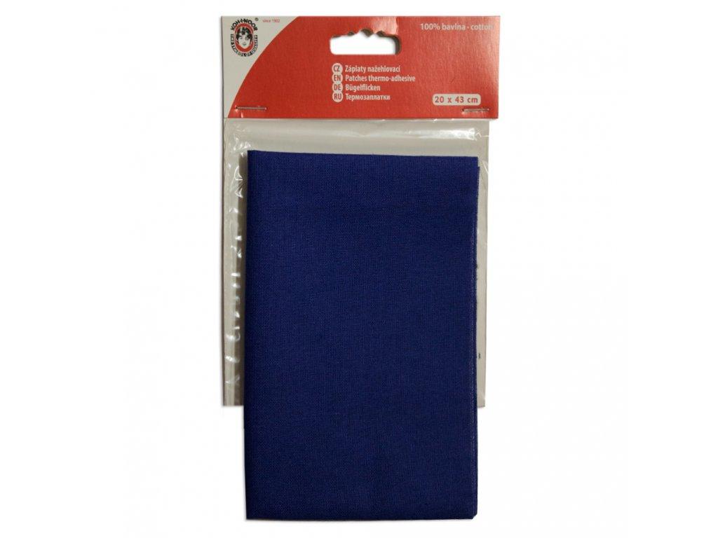 Nažehlovací záplata Koh-I-Noor - 100% bavlna, středně modrá