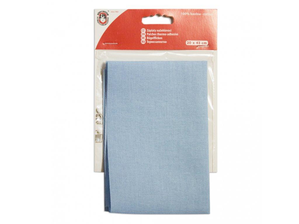 Nažehlovací záplata Koh-I-Noor - 100% bavlna, světle modrá