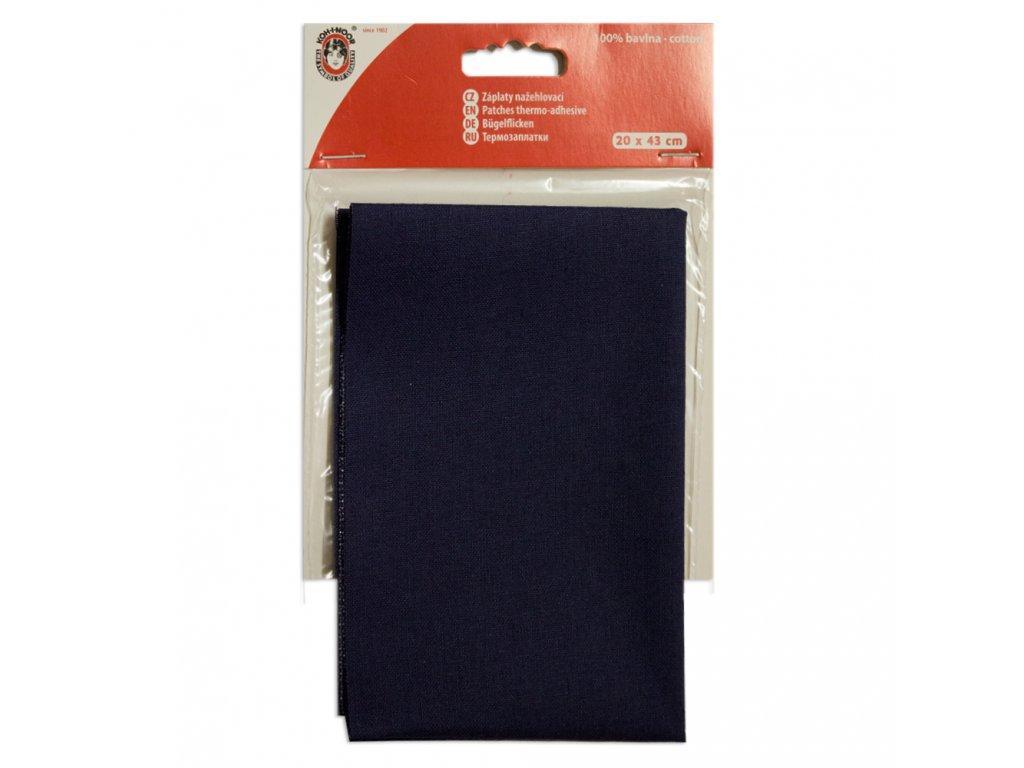 Nažehlovací záplata Koh-I-Noor - 100% bavlna, tmavě modrá