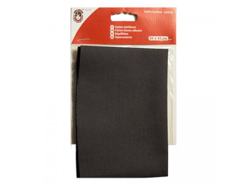 Nažehlovací záplata Koh-I-Noor - 100% bavlna, tmavě šedá
