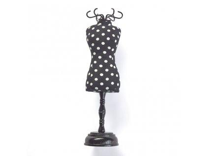 Jehelníček - krejčovská panna Polka Dots Black & White 610319