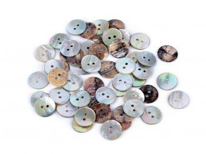 Knoflík přírodní perleť velikost 18 Agoya