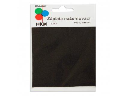 Nažehlovací záplata 100% bavlna - černá