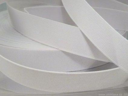 Pruženka oděvní 367025 š.2.5cm bílá
