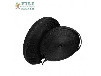 Suchý zip komplet š. 2 cm barva černá
