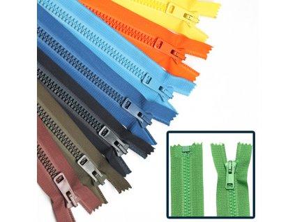 Kostěný zip PH6 6mm dělitelný délka 35cm