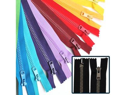 Kostěný zip PH6 6mm nedělitelný délka 18cm