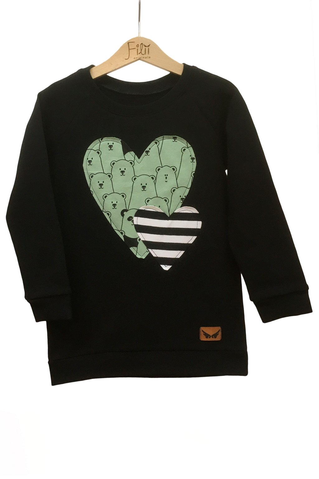 Mikina srdce panda 1