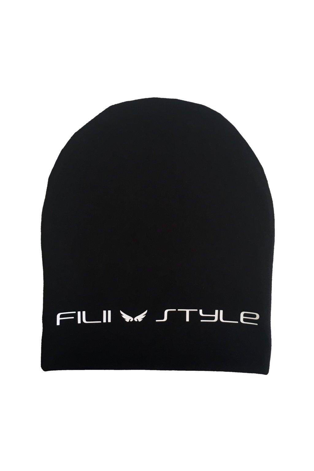 HOUMLES ČIAPKA FILII STYLE (čierna+biele logo)