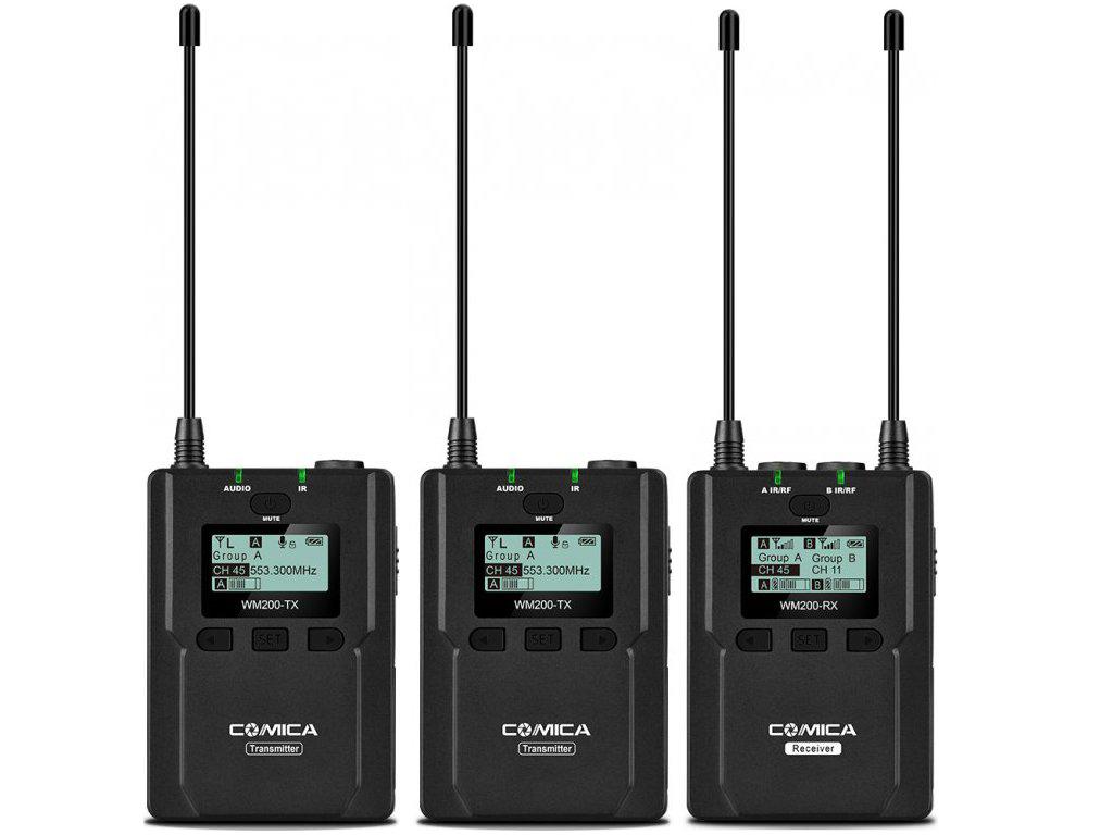 Mikroporty - bezdrátové mikrofony