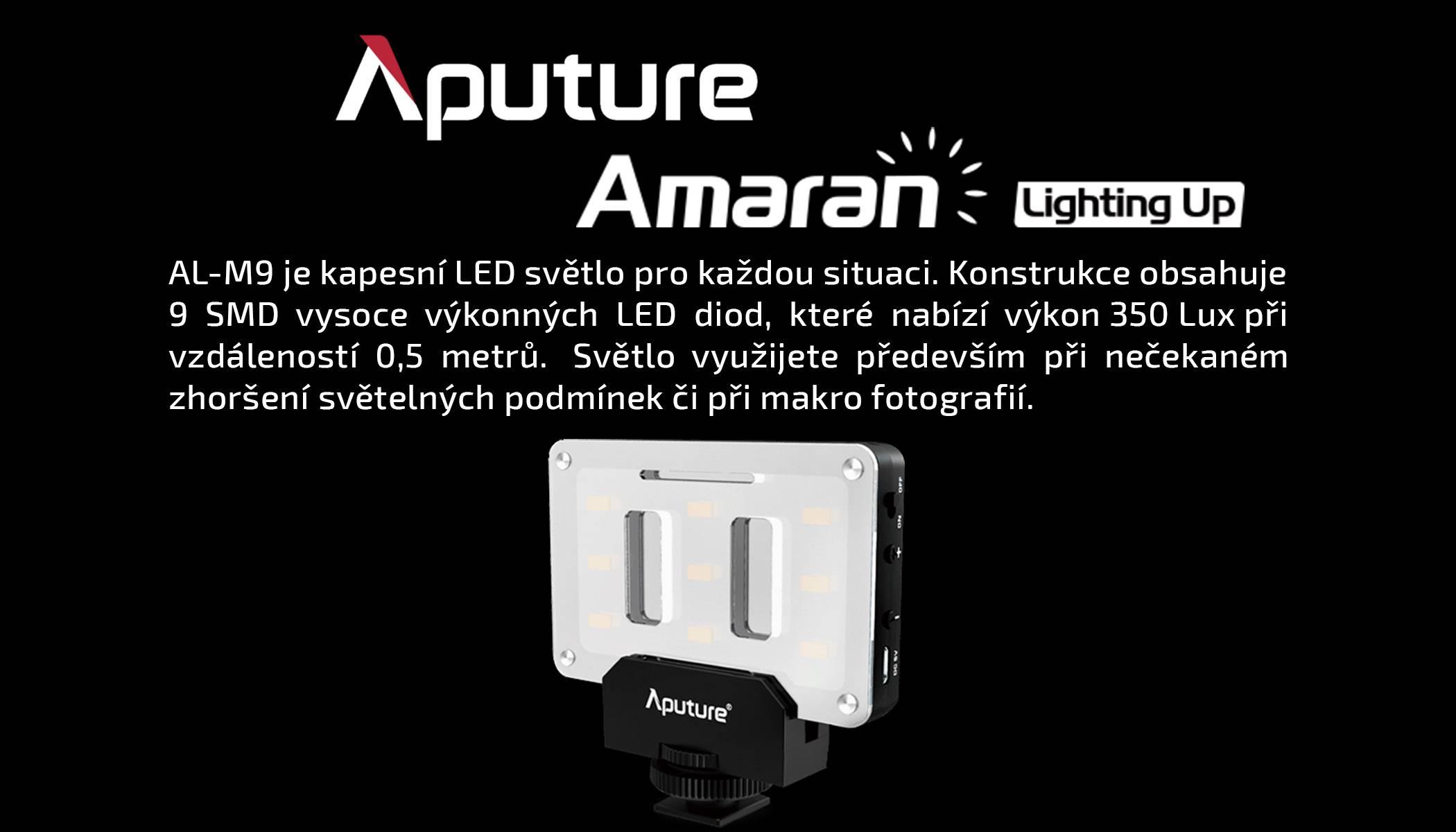 film-technika-aputure-amaran-al-m9-opravdu-malé-kamerové-led-světlo