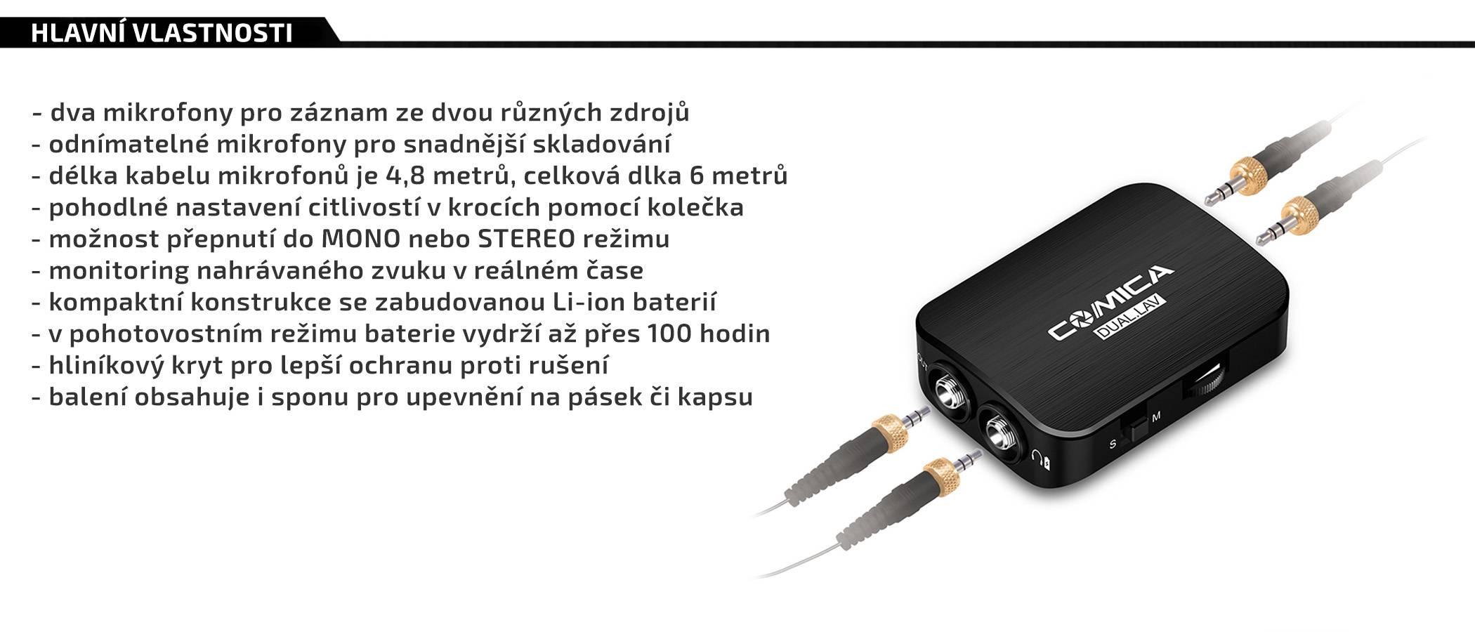 film-technika-comiaca-audio-dual-lav-03-sada-dvou-klopových-mikrofonu-a-zesilovače-vlastnosti