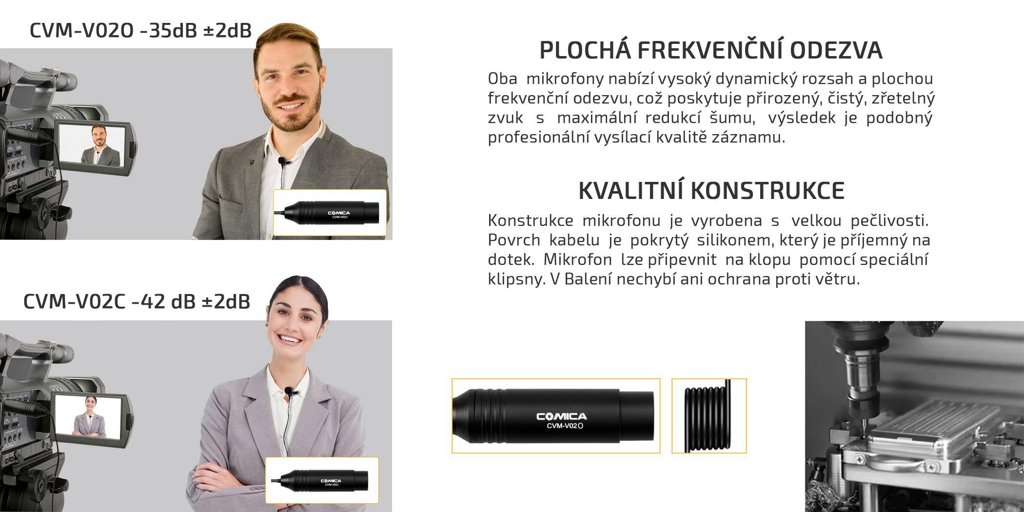 film-technika-camica-audio-xlr-cvm-v02o-vo2c-konstrukce-citlivost