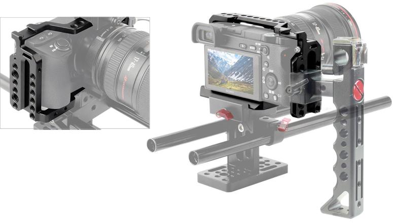 Filmcity-Camera-Cage-for-Sony-Alpha-A6500-ILCE-6500-4K-Digital-Mirrorless-Camera-3