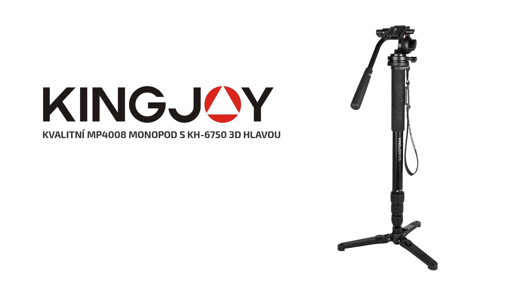 film-technika-kingjoy-monopod-mp4008-s-3d-hlavou-kh-6750