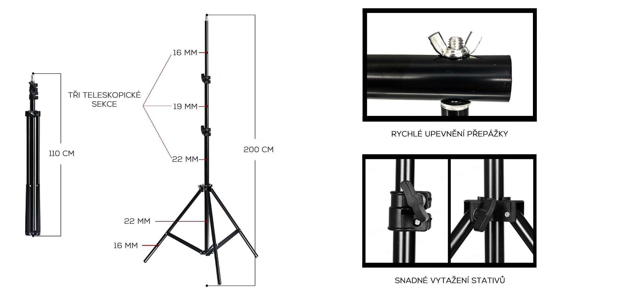 film-technika-konstrukce-pro-upevnění-foto-pozadí-low