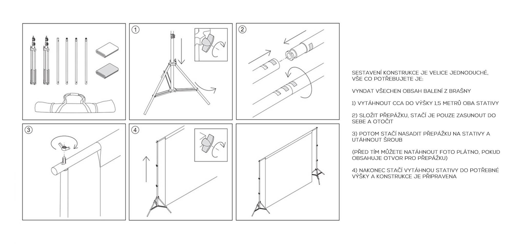 film-technika-konstrukce-pro-upevnění-foto-pozadí-sestavení