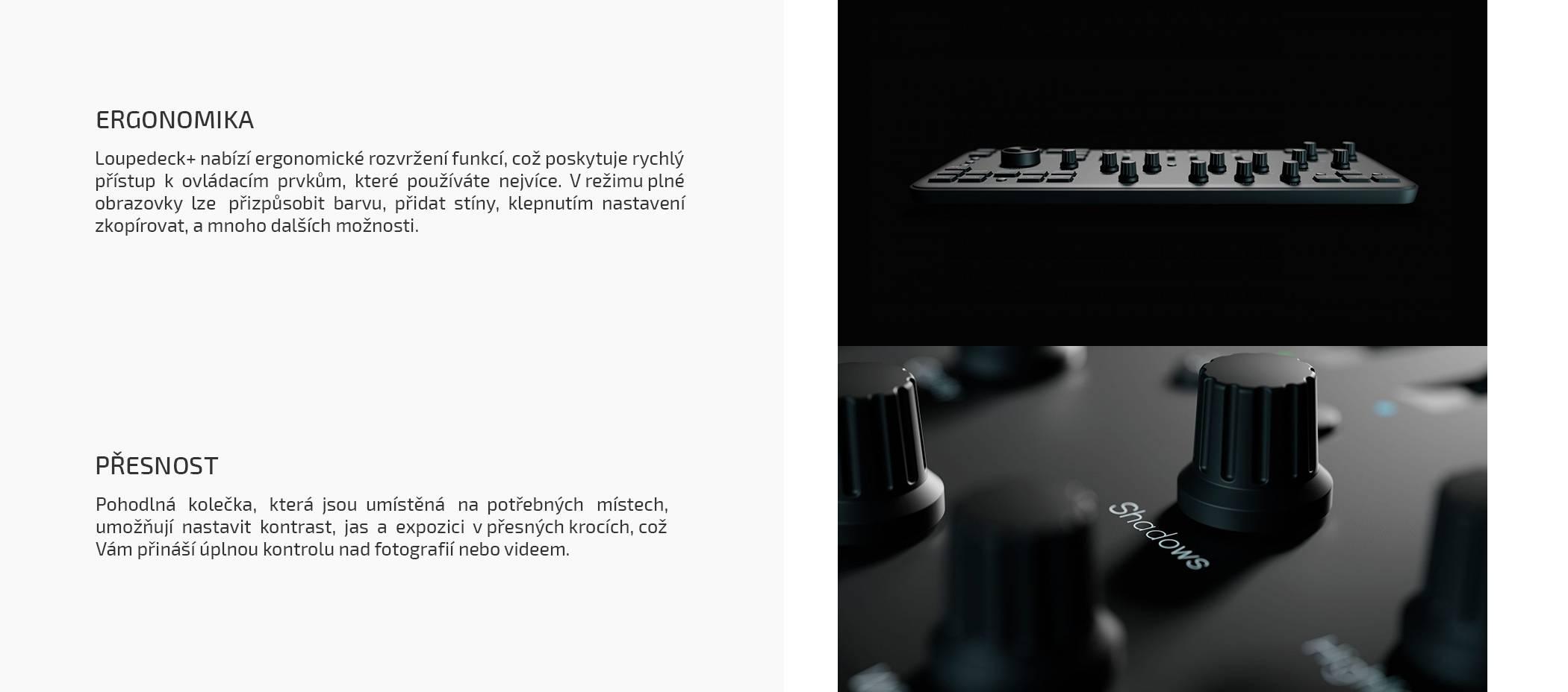 film-technika-loupedeck-plus-konzole-pro-úpravu-fotrk-a-videa-ergonomika-přesnost
