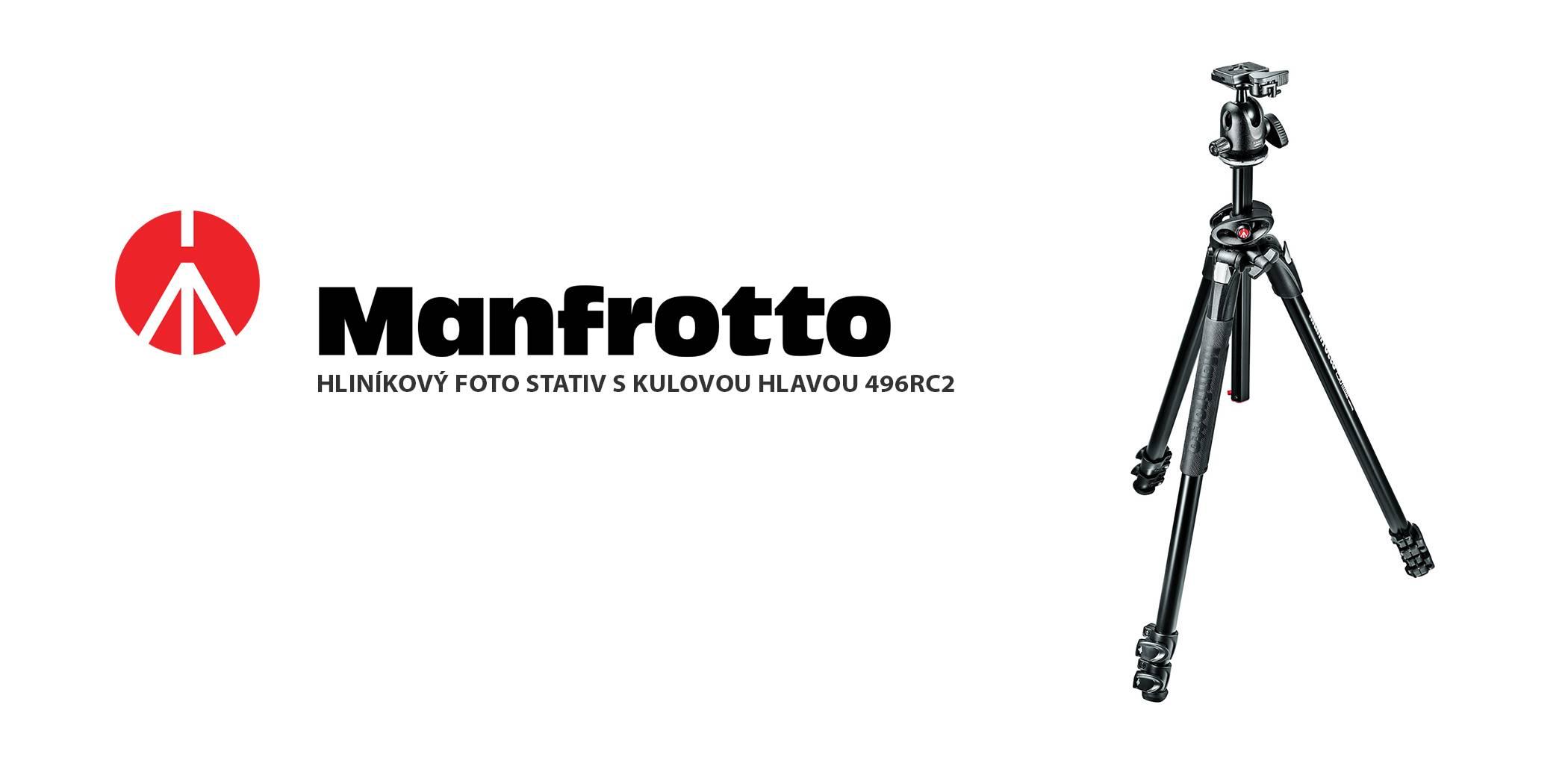 film-technika-manfrotto-hliníkový-stativ-s-kulovou-hlavou-496RC2