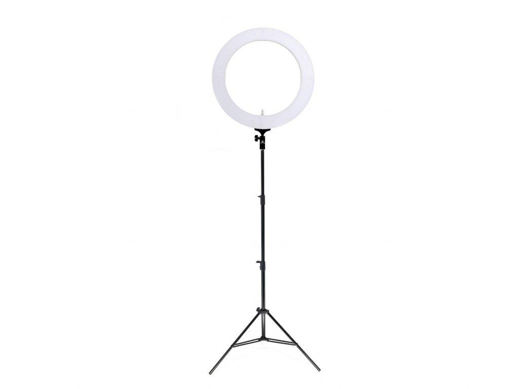 """19"""" 80W kruhové ringlight LED světlo na líčení + baterie + stativ"""
