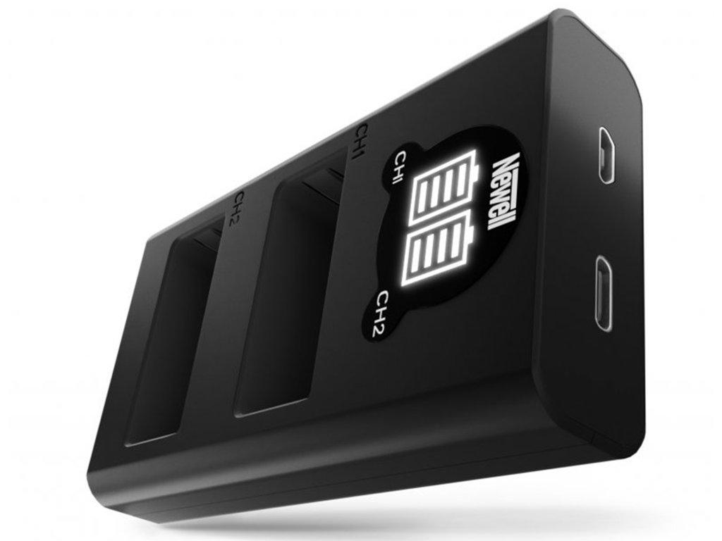Rychlostní USB-C duální nabíječka DMW-BLG10 baterií