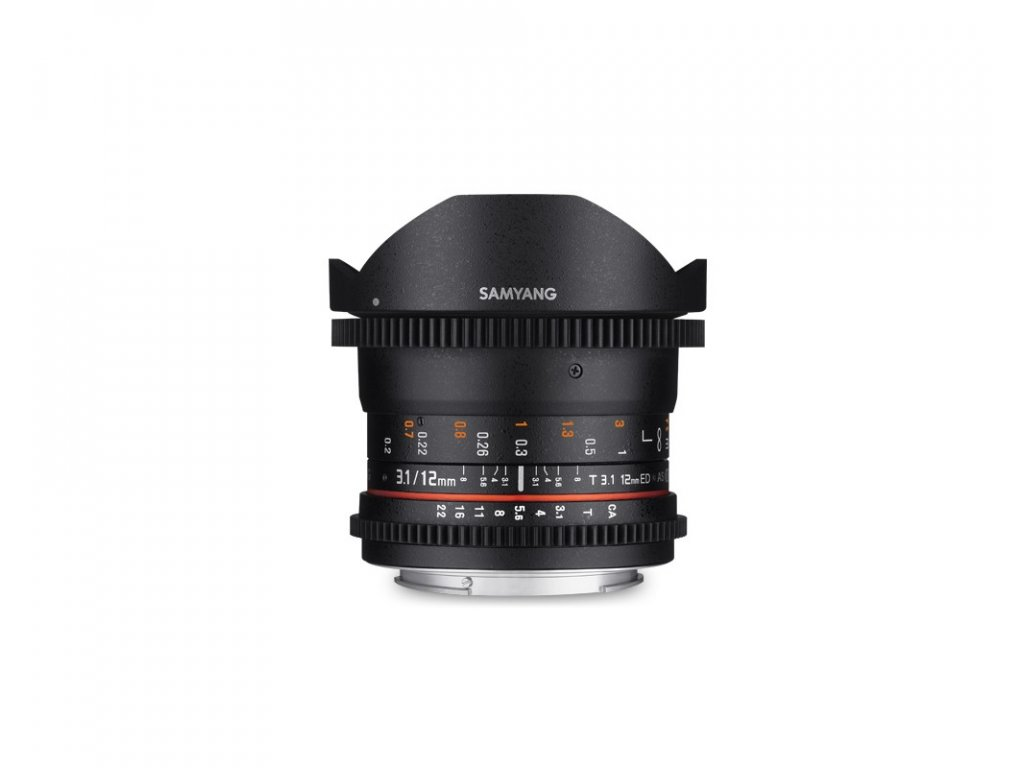 Objektiv SAMYANG 12mm 3,1T VDSLR ED AS NCS Fish-eye (CANON EF)