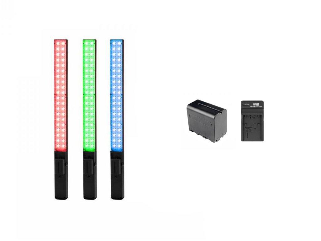 Yongnuo YN360 tyčové LED světlo (RGB) + baterie a nabíječka