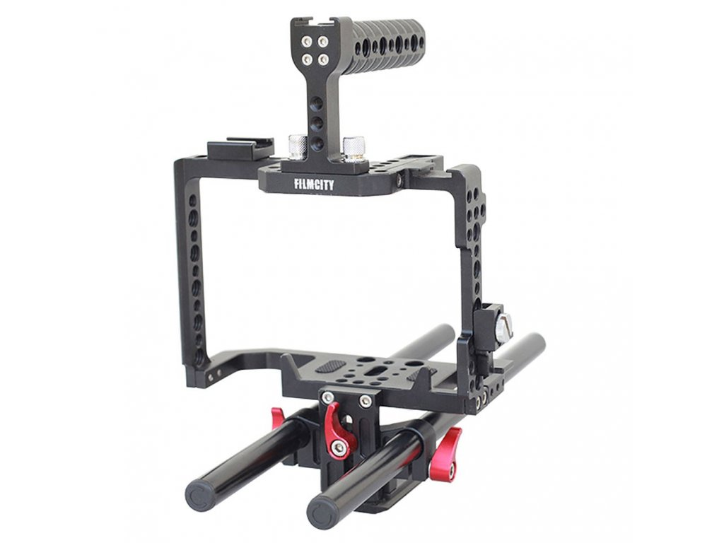 ft Filmcity DSLR Camera Cage with Rod Support for Canon EOS 70D 80D 01
