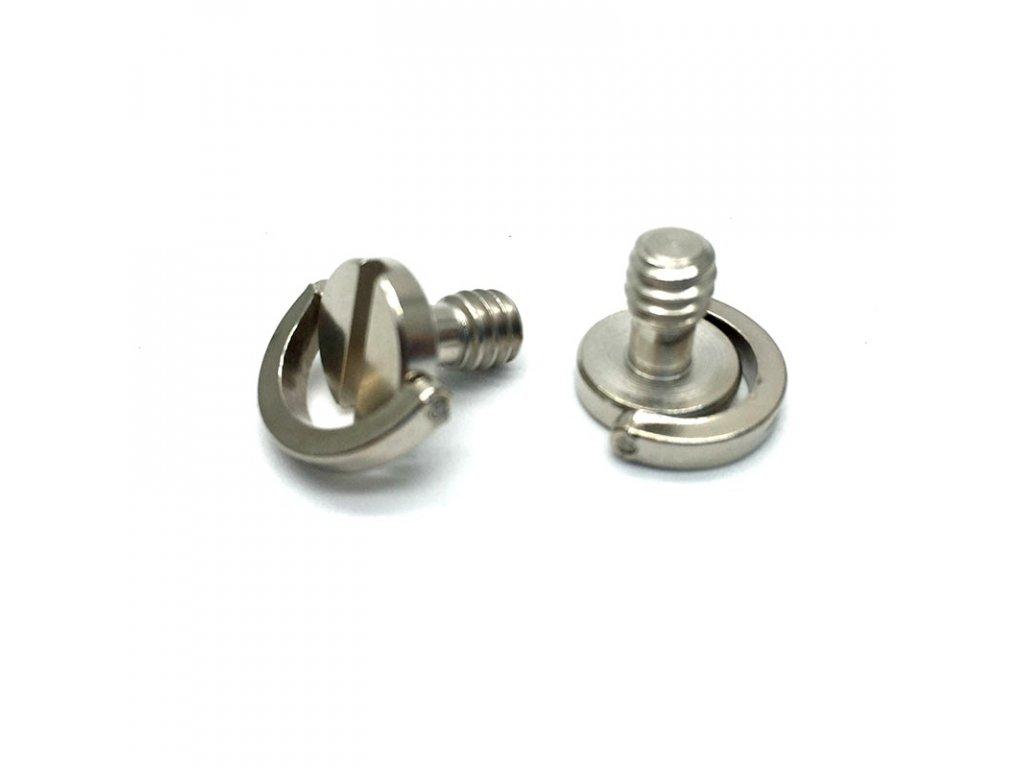 """D-ring 1/4"""" kamerový šroub, foto šroub s kličkou"""