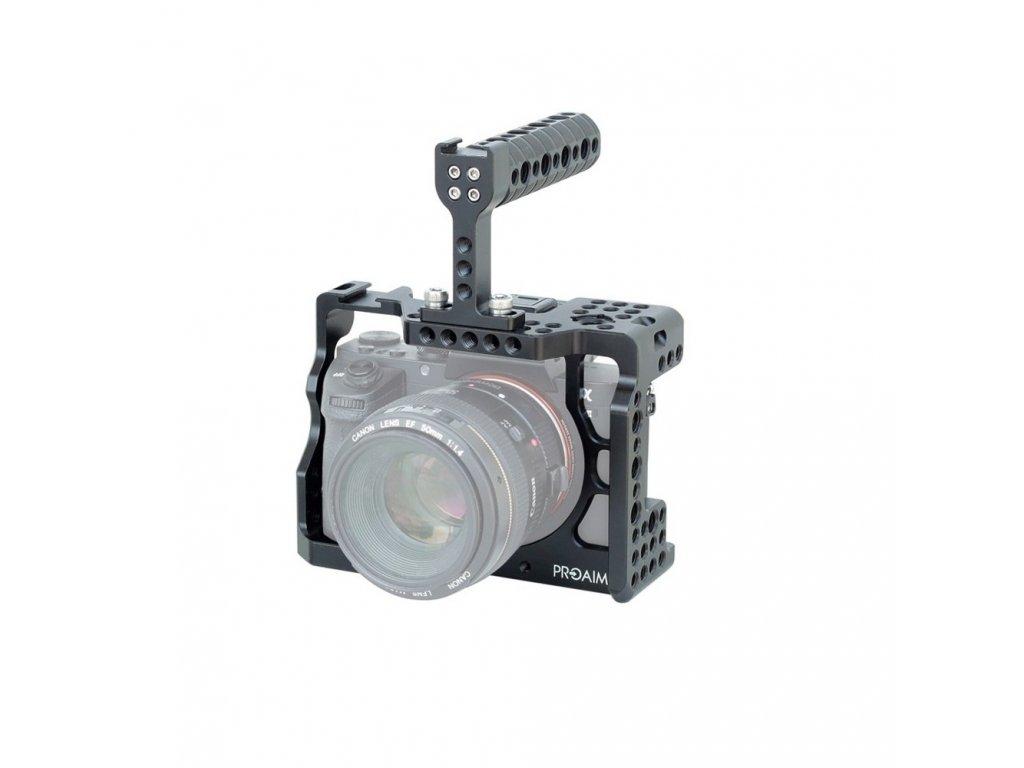 Kamerová klec pro SonyA7R III a A7 Mk 3 + horní rukojeť