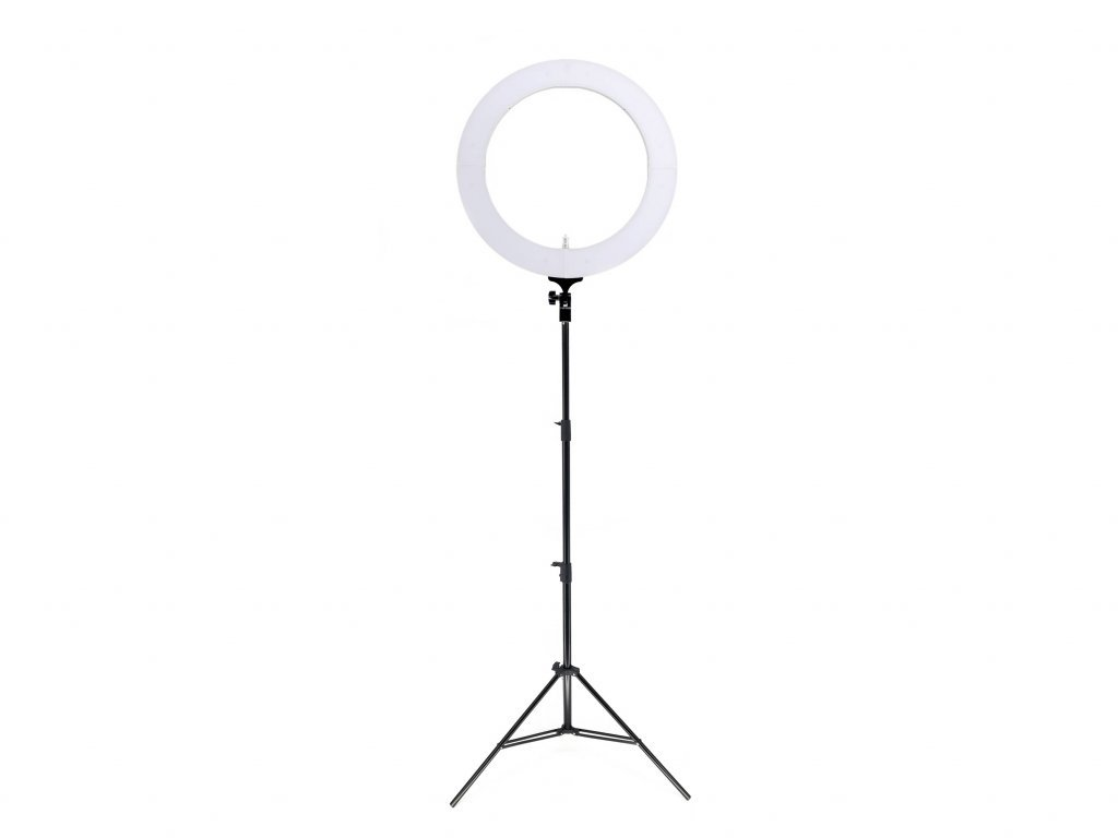 """19"""" 80W kruhové ringlight LED světlo na líčení + stativ"""