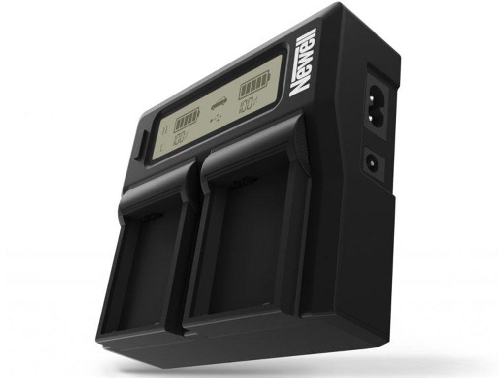 Duální LCD nabíječka pro Panasonic DMW-BLF19E baterie