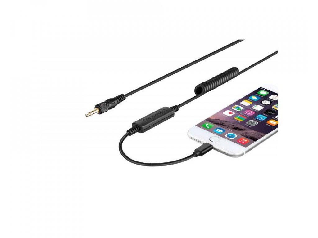 Saramonic redukce z 3,5mm mini Jack TRS na Lightning Iphone
