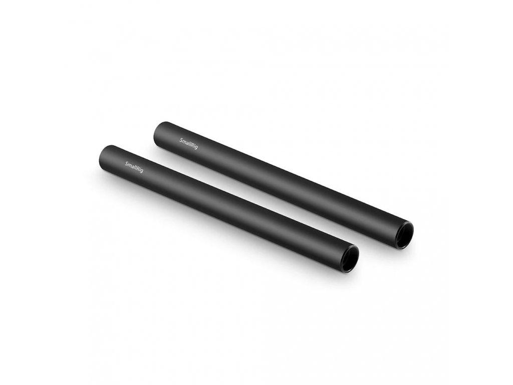 SmallRig 2pcs 15mm Black Aluminum Alloy RodM12 20cm 8inch 1051 13298.1516679139