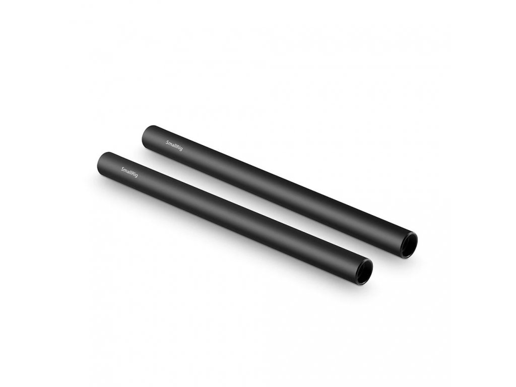 2pcs 15mm Black Aluminum Alloy RodM12 25cm 10inch 1052 21536.1516679428