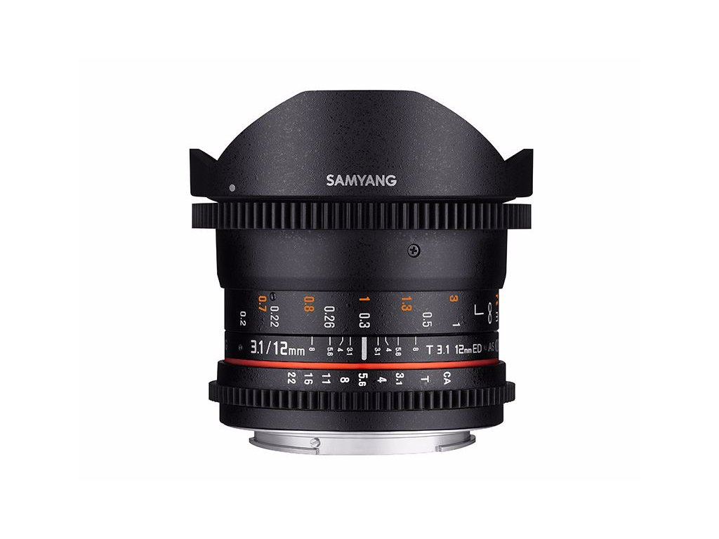 SAMYANG 12mm T/3,1 VDSLR ED AS NCS Fish-Eye