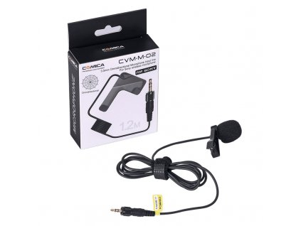 Comica CVM M O2 3 5mm Lavalier Microphone Omnidirectional Lapel Microphone Input Line for Sony Wireless (1)