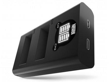 Rychlostní USB-C duální nabíječka DMW-BLC12 baterií